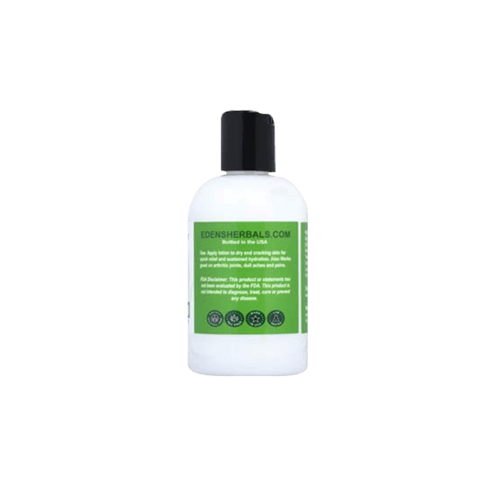 Back view of Eden's Herbals-CBD-Body-Lotion