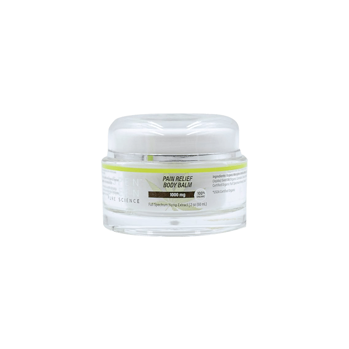 Front view of AspenGreen-PAIN-RELIEF-BODY-BALM
