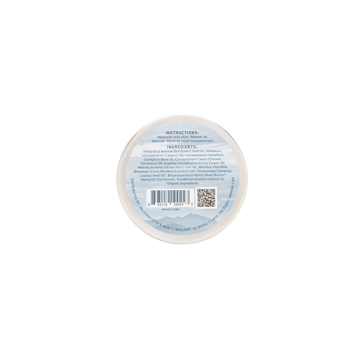 Back view of Charlotte's-Web-Hemp-Infused-Balm-with-CBD