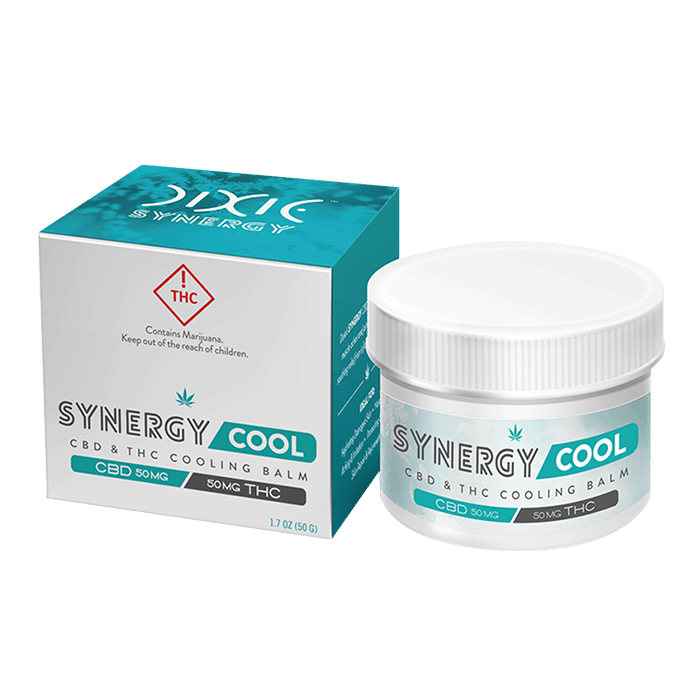 Back view of Dixie-Synergy-Cool-CBD&THC-Cooling-Balm