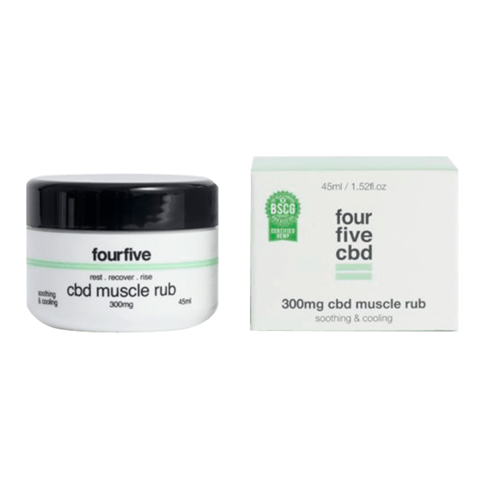 Back view of FourFive-CBD-Muscle-rub