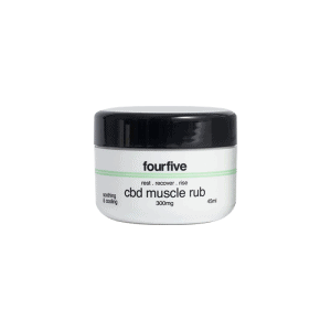Front view of FourFive-CBD-Muscle-rub
