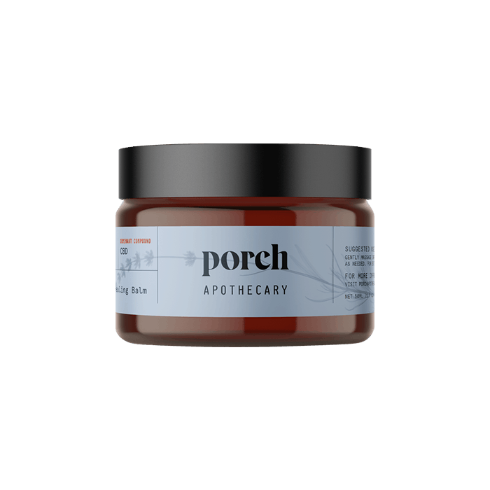 Front view of porch apothecary lavander balm