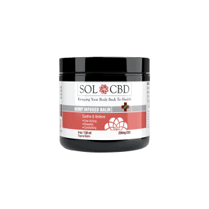 Front view of SolCBD-Hemp-Infused-Balm