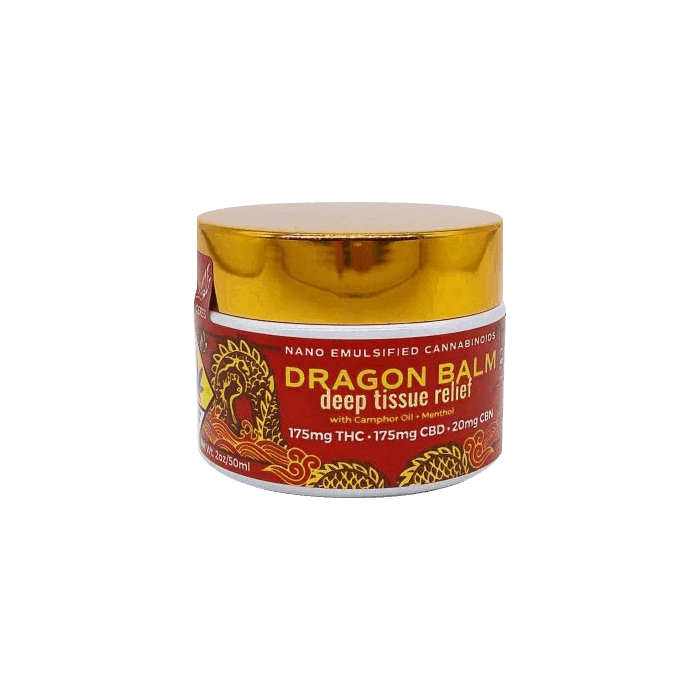 back view of dragon balm deep tissue relief