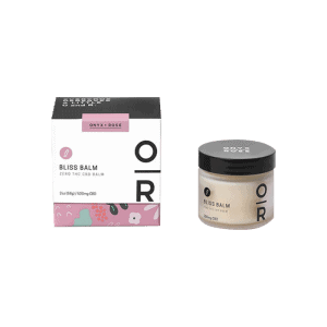 front view of onyx+rose bliss balm