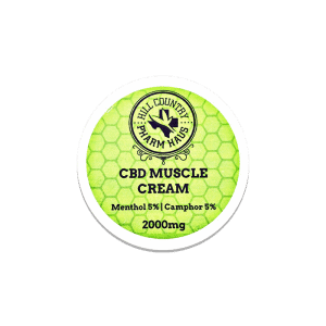 front view of hill country pharm haus cbd muscle cream