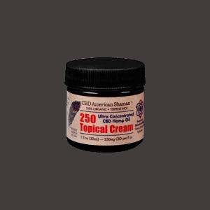 Front view of AmericanShaman CBD 250 Topical Cream
