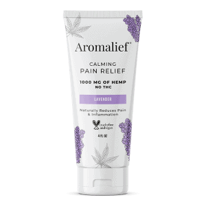 Front view of Aromalief Calming Pain Relief (Lavender)