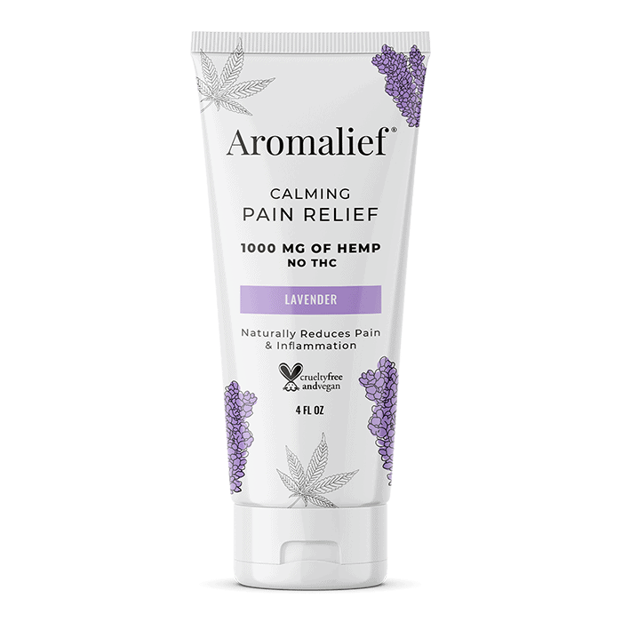 Back view of Aromalief Calming Pain Relief (Lavender)