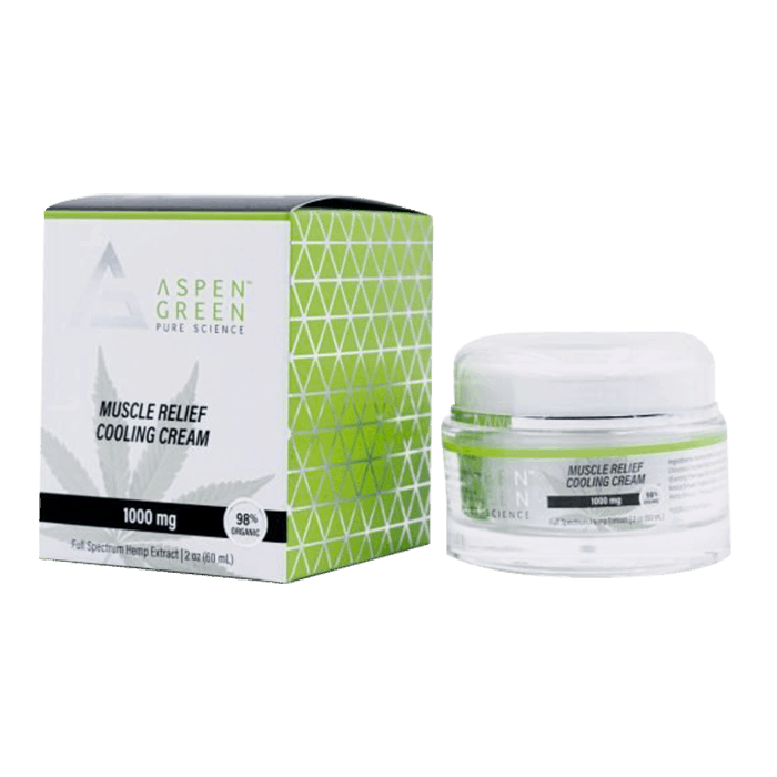 Back view of AspenGreen Muscle Relief Cooling Cream