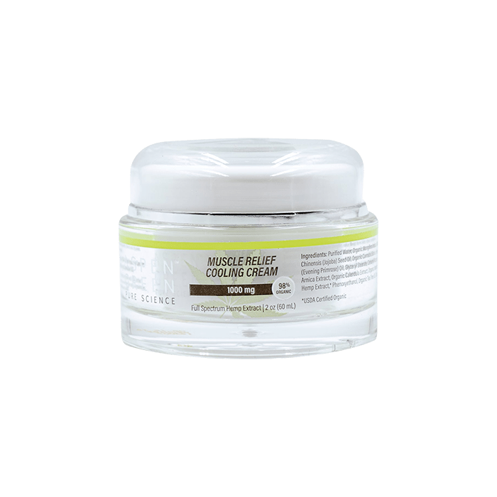 Front view of Muscle Relief Cooling Cream