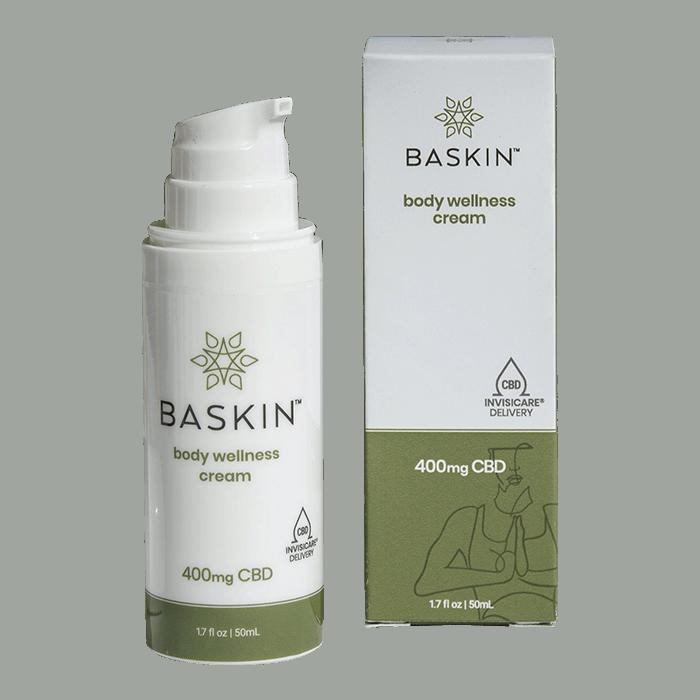 Back view of BASKIN CBD Body Wellness Cream