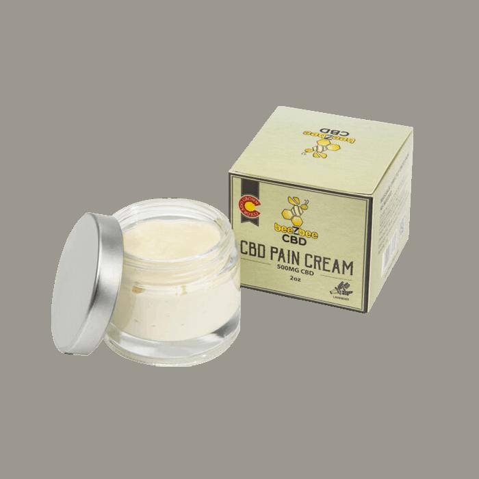 Back view of Beezbee CBD Pain Cream
