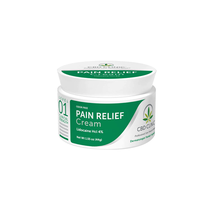 front view of cbd clinic pain relief cream level 1