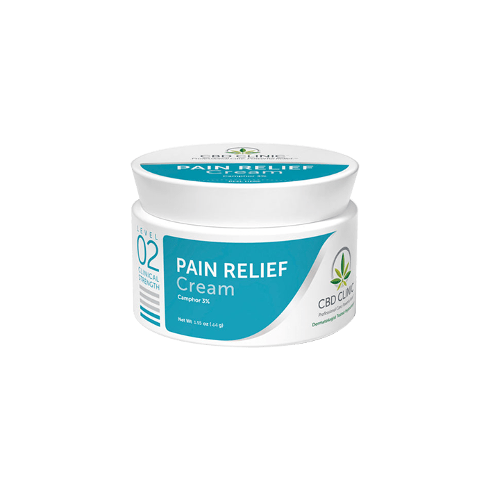 back view of cbd clinic pain relief cream level 2