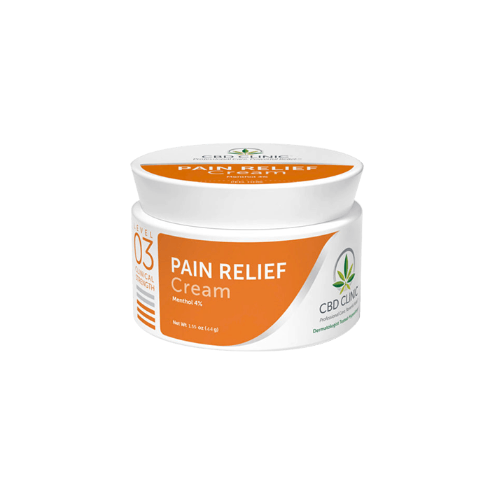 front view of cbd clinic pain relief cream level 3