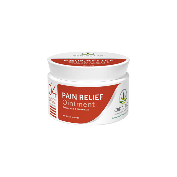 front view of cbd clinic pain relief ointment level 4
