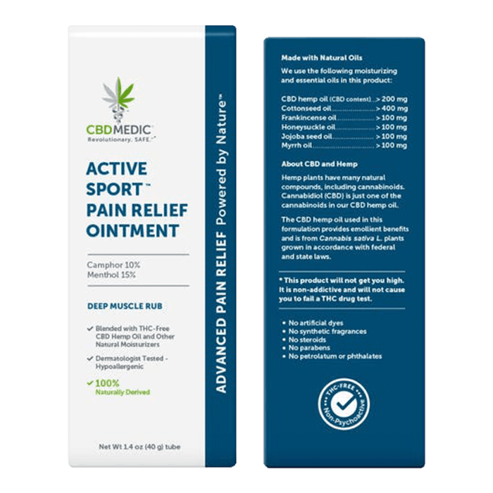 Back view of CBDMedic Active Sport Pain Relief Ointment