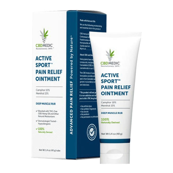 Front view of CBDMedic Active Sport Pain Relief Ointment