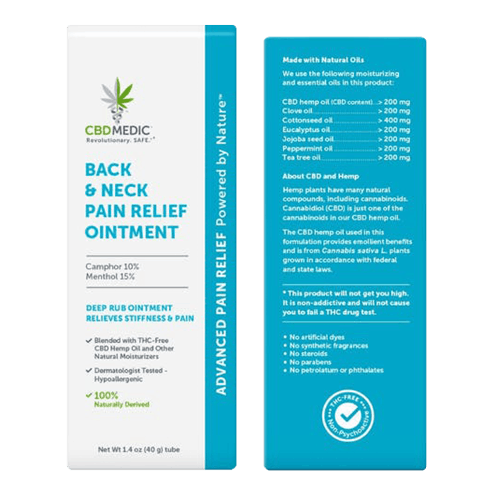 Back view of CBDMedic Back & Neck Pain Relief