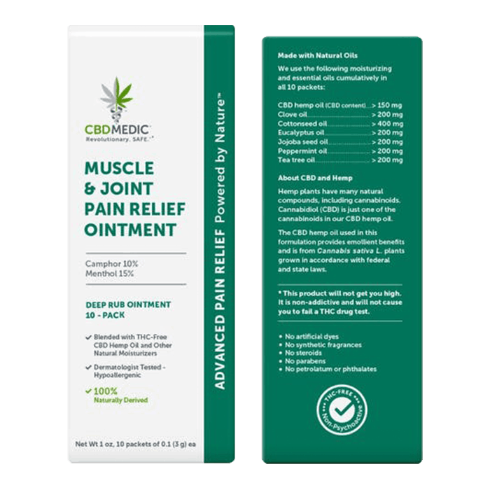 Back view of CBDMedic Muscle & Join Pain Relief Ointment
