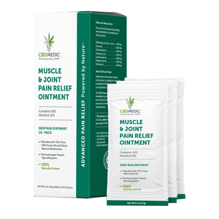 Front view of CBDMedic Muscle & Join Pain Relief Ointment
