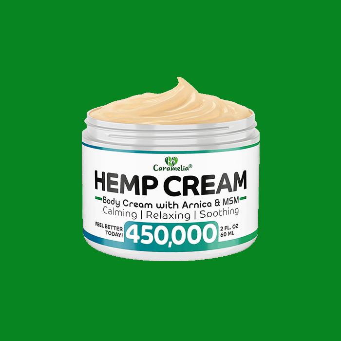 Back view of Caramelia Hemp Body Cream 450000mg