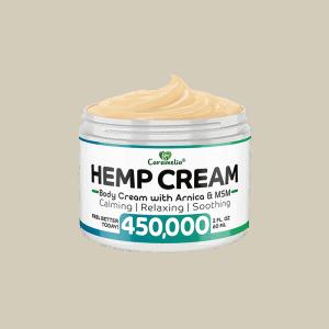 Front view of Caramelia Hemp Body Cream-450000m