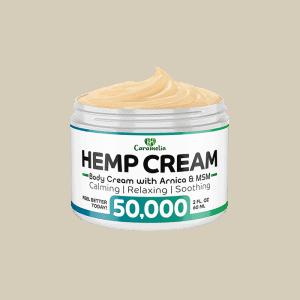 Front view of Caramelia Hemp Body Cream-50000mg