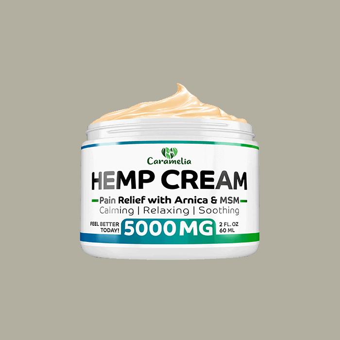 Back view of Caramelia Hemp Cream Pain Relief 5000mg