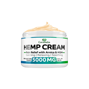 Front view of Caramelia Hemp Cream Pain Relief 5000mg