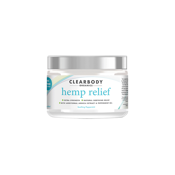 Front view of Clearbody Organics Hemp Relief