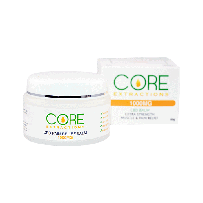 Back view of core extractions cbd pain relief