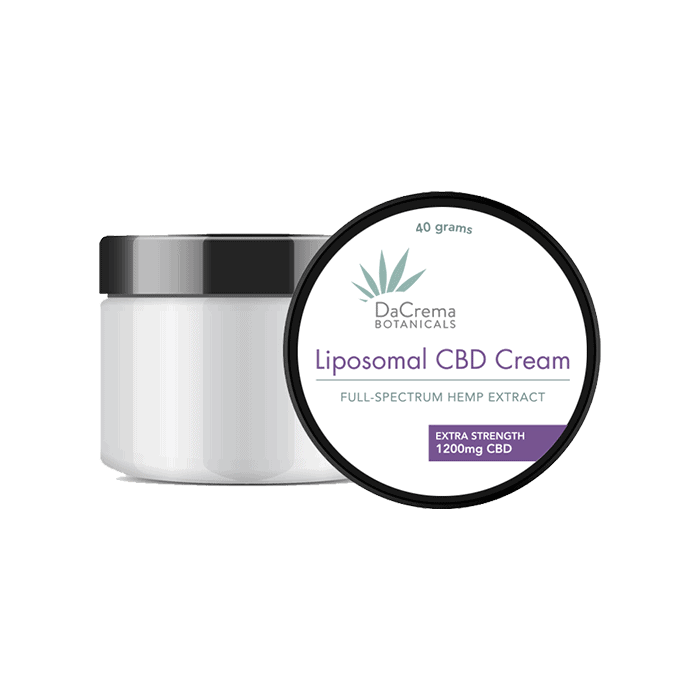 back view of dacrema botanicals liposomal cbd cream