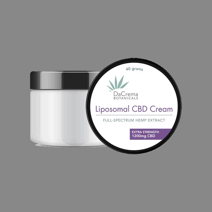 front view of dacrema botanicals liposomal cbd cream