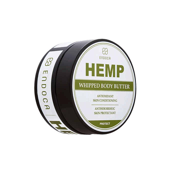 Front view of endoca hemp whipped body butter cream
