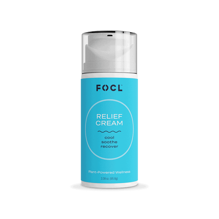 Back view of FOCL Relief Cream Cool Soothe recover