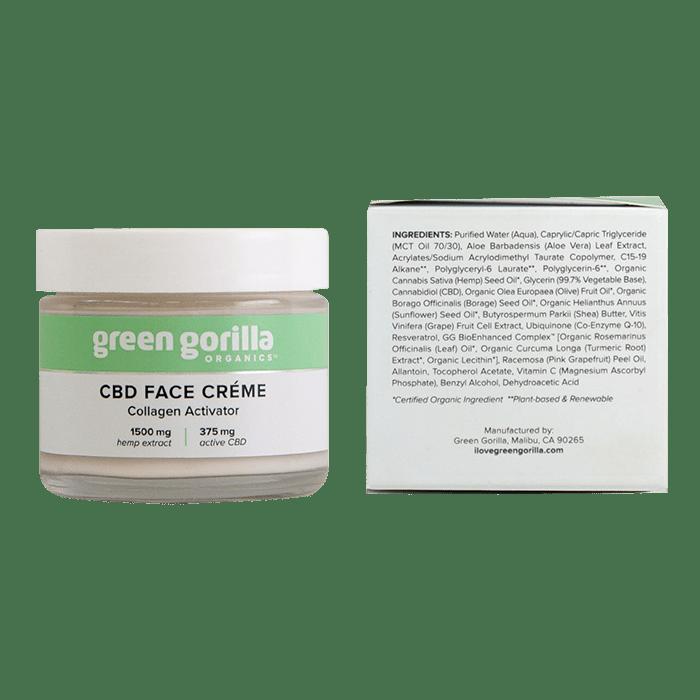 Back view of GreenGorila-CBD-Face-Creme