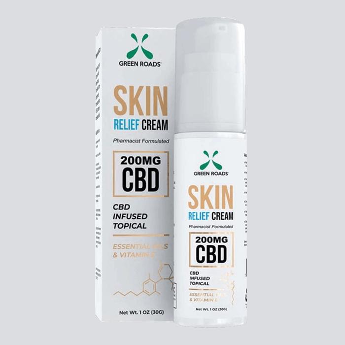 Front view of GreenRoads CBD Skin Relief Cream