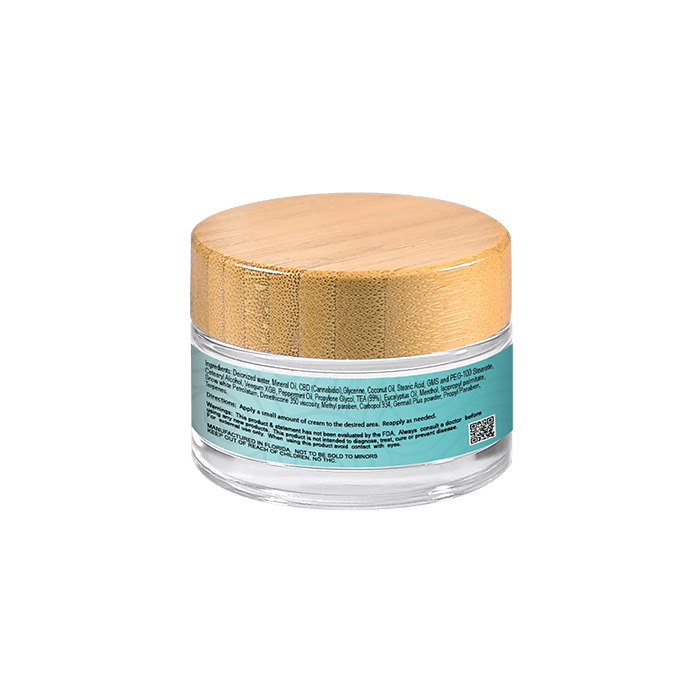 Back view of Hempeli-500mg-CBD-Pain-Relief-Topical-Cream