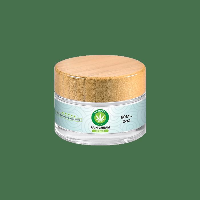 Front view of Hempeli-500mg-CBD-Pain-Relief-Topical-Cream