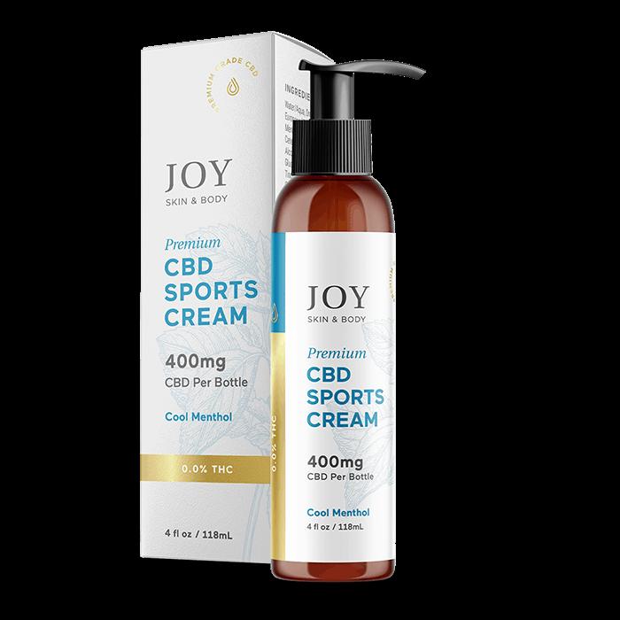 Front view of JoyOrganics Premium CBD Sports Cream