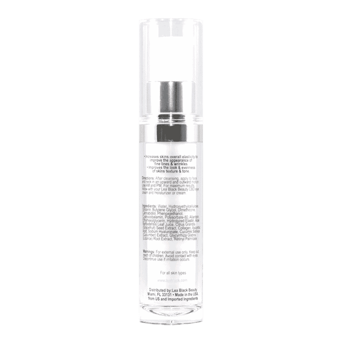 Back view of LeaBlack-ANTI-AGING-FACE-SERUM-WITH-CBD