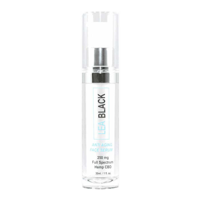 Front view of LeaBlack-ANTI-AGING-FACE-SERUM-WITH-CBD