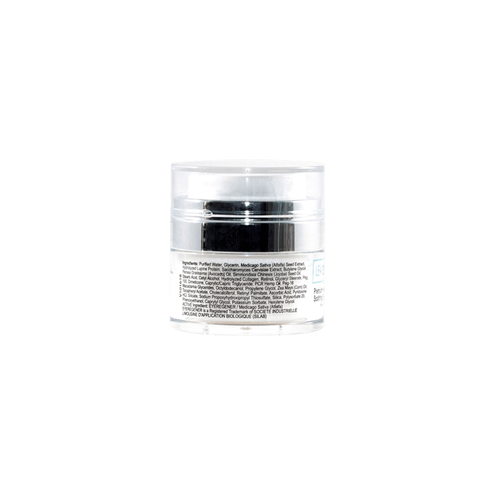 Back view of LeaBlack-Premium-Hemp-CBD-Soothing-Eye-Cream