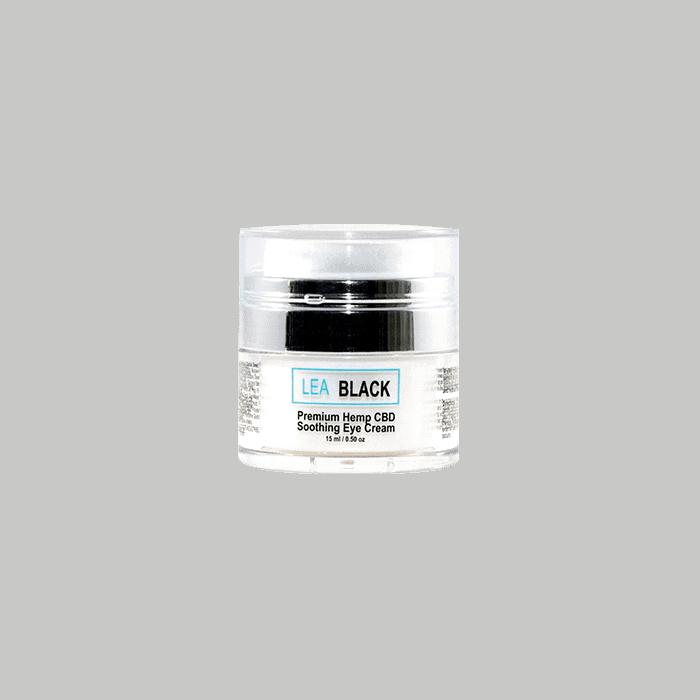 Front view of LeaBlack-Premium-Hemp-CBD-Soothing-Eye-Cream