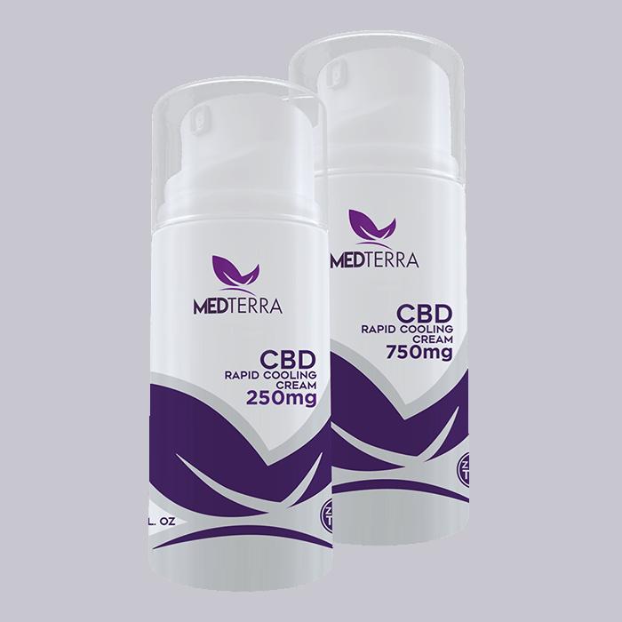 Back view of Medterra CBD-Rapid Cooling Cream