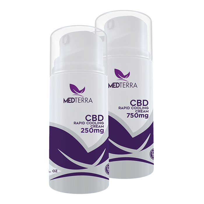 Front view of Medterra CBD Rapid Cooling Cream