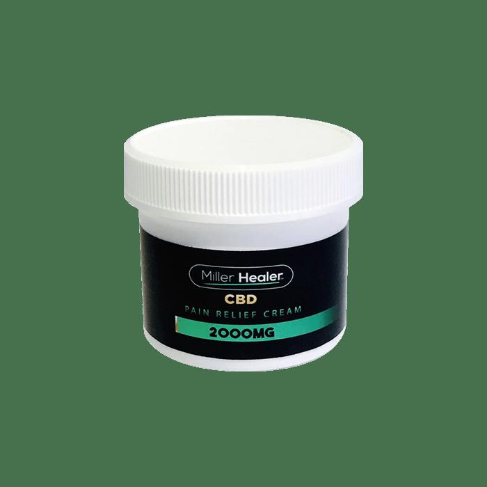 Back view of Miller Healer CBD Pain Relief Cream